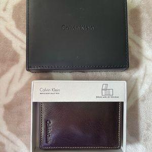 Calvin Klein Men's Bifold Leather Wallet NWT